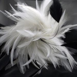 fiore piuma naturale bianco
