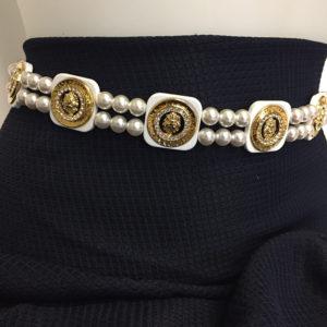 cintura in acetato con perle