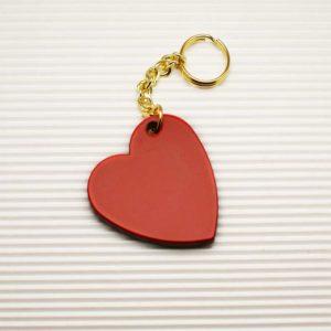Portachiavi a forma di cuore in acetato